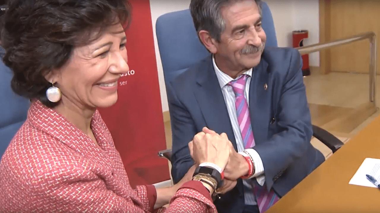 Ana Patricia Botín y Miguel Ángel Revilla. Fuente: Youtube