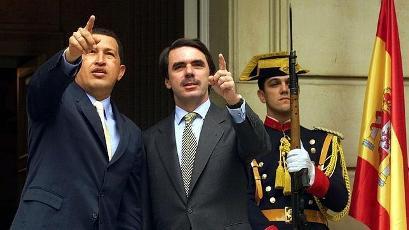 Hugo Chávez y José María Aznar.