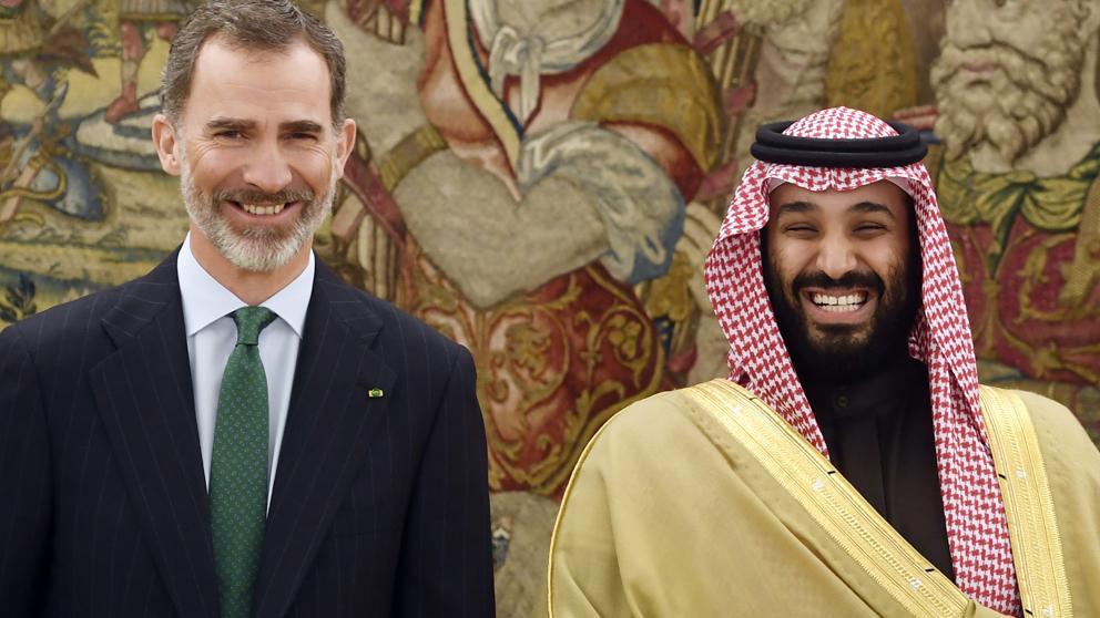 El Rey de España junto al príncipe heredero de Arabia Saudí (Archivo)