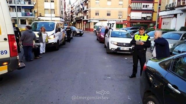 Lugar del accidente (Twitter, Emergencias Sevilla)