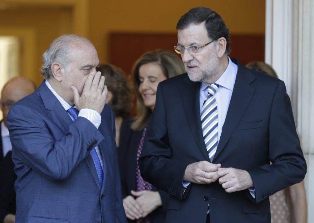 Jorge Fernández y Mariano Rajoy.