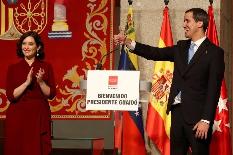 Ayuso y Guaidó.