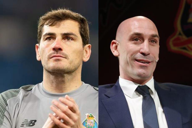 Iker Casillas y Luis Rubiales.