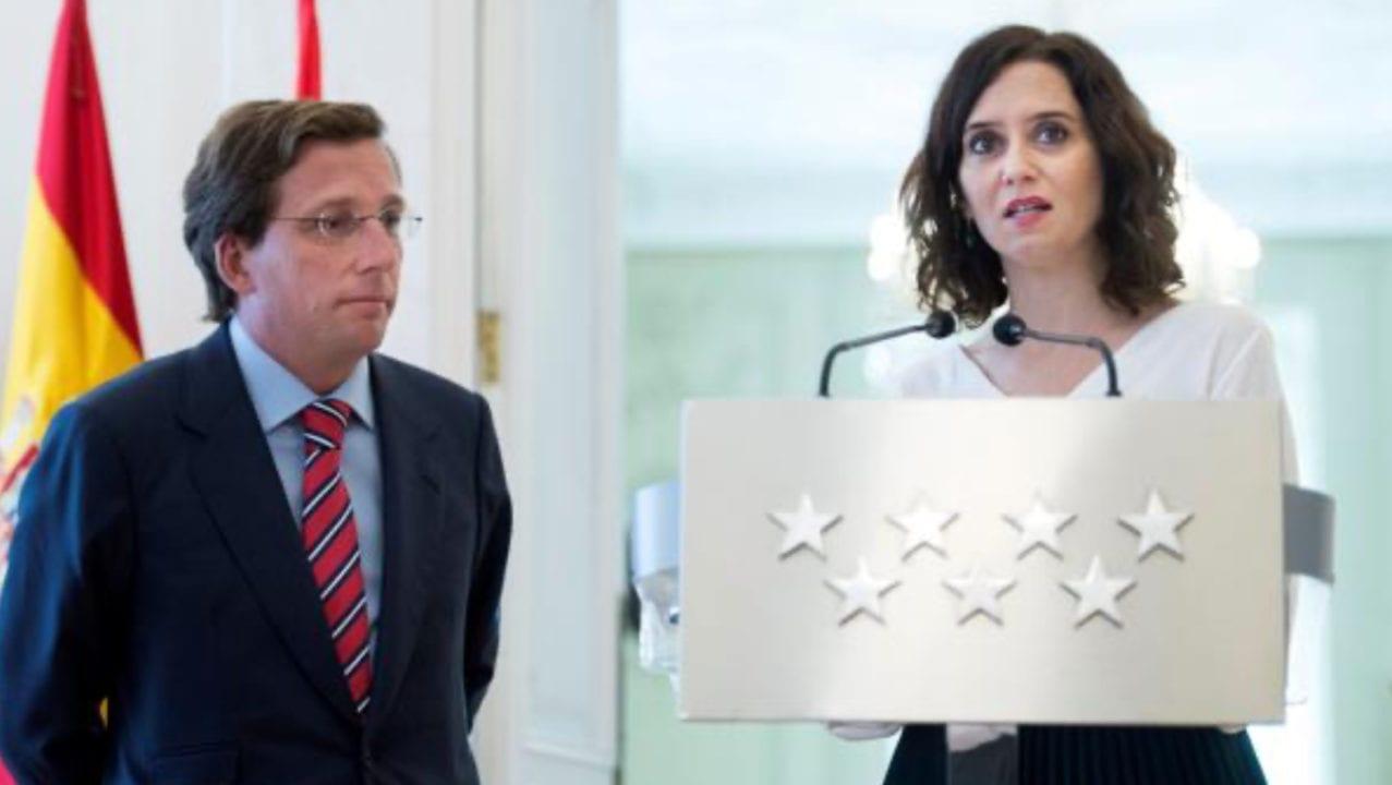 El alcalde y la presidenta de Madrid, responsables de controlar el principal foco de coronavirus en España