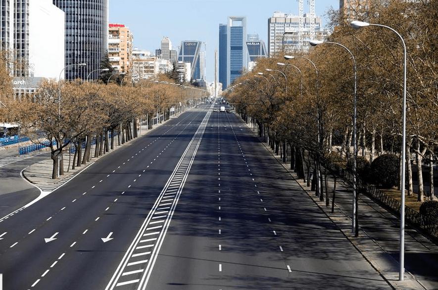 Madrid, vacía por el estado de alarma ante el coronavirus
