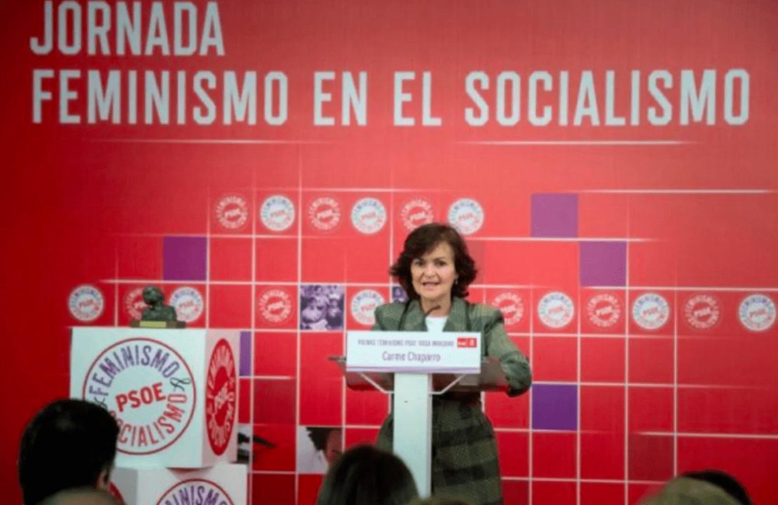 Carmen Calvo, cabeza visible del movimiento feminista en el PSOE (Archivo)