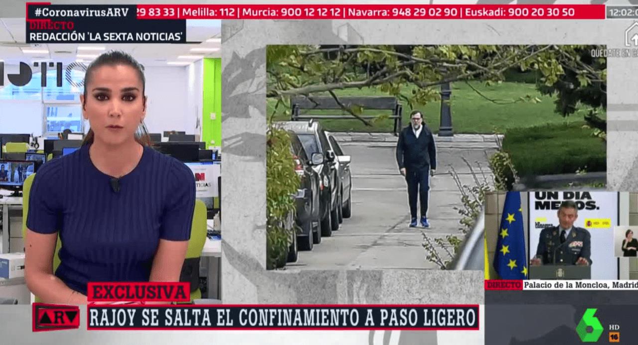 Rajoy paseando. Imagen del programa Al Rojo Vivo de La Sexta.