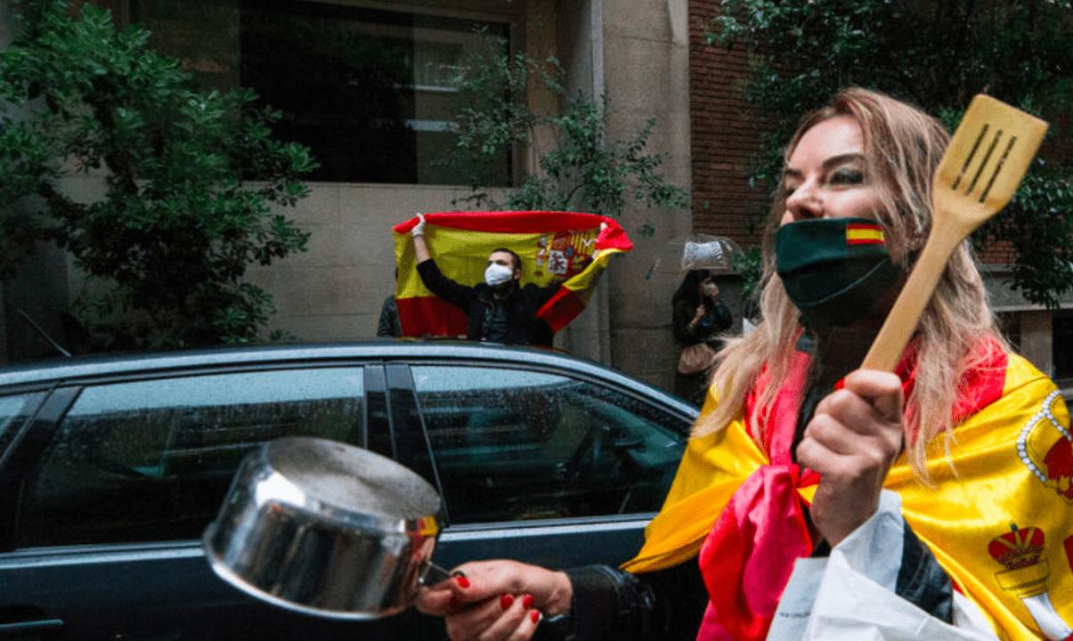 Protestas de la extrema derecha en el barrio de Salamanca de Madrid