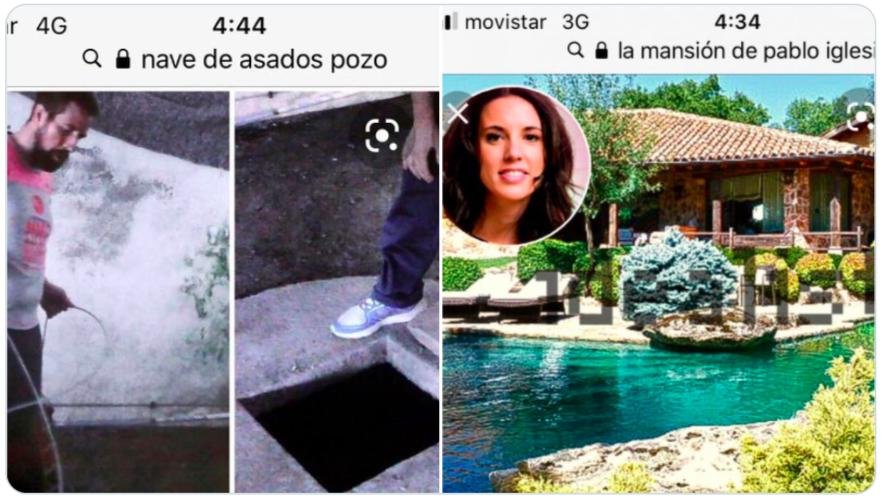Fotos publicadas por el padre de Diana Quer en las que compara el pozo en el que fue depositada su hija con la piscina de Iglesias y Montero