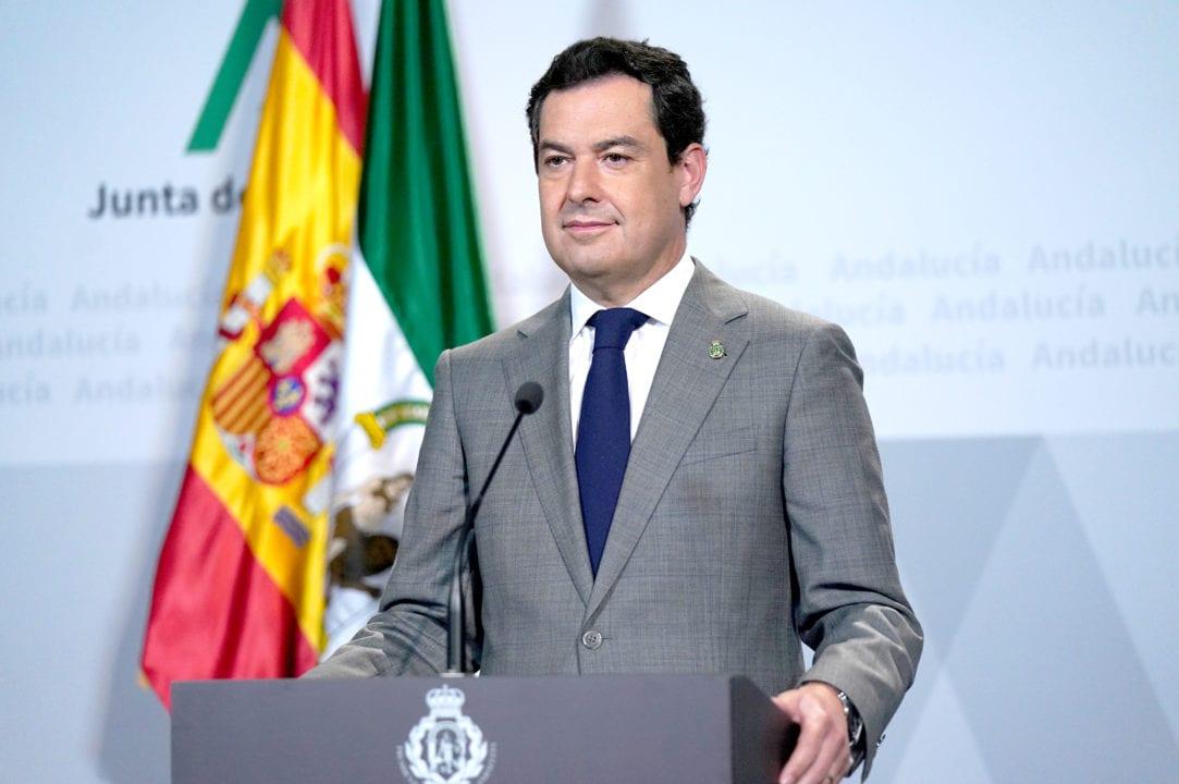 Juanma Moreno, presidente de la Junta.