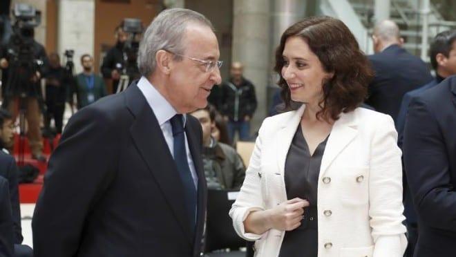 Florentino Pérez e Isabel Díaz Ayuso.