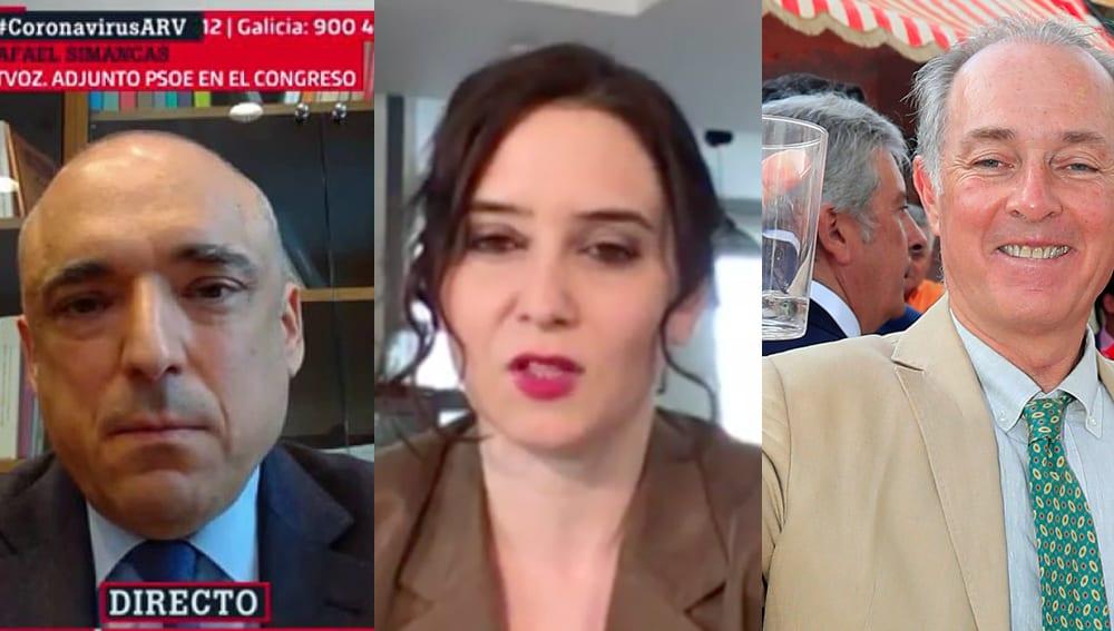 Simancas, Ayuso y Soto.
