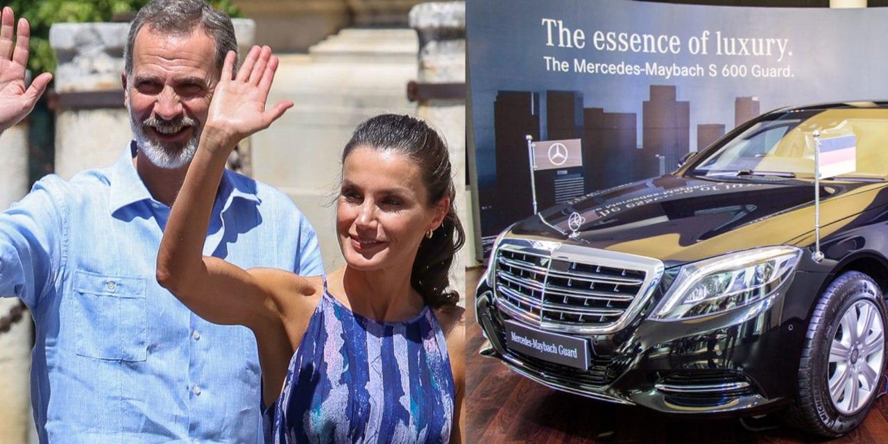 Los reyes y el Mercedes S Guard.