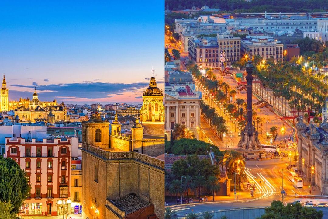 Sevilla y Barcelona.