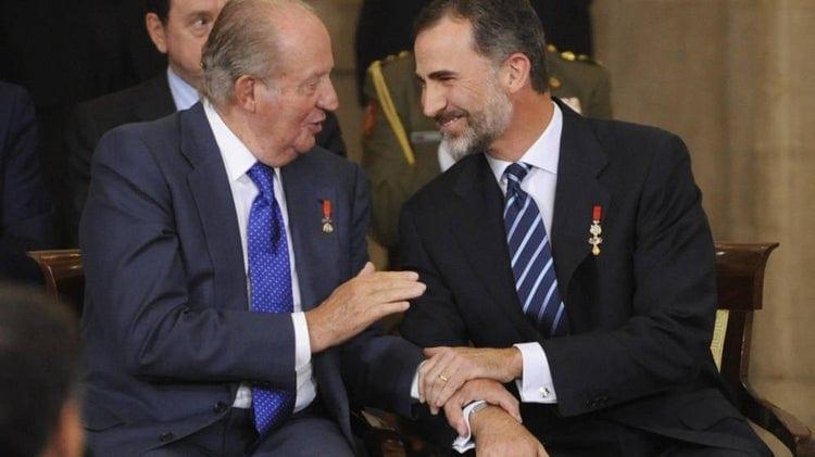 Felipe VI y su padre, el rey emérito.