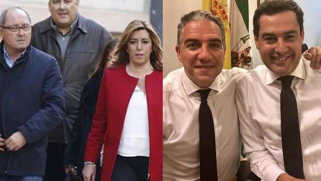 Juan Cornejo, Susana Díaz, Elías Bendodo y Juanma Moreno.