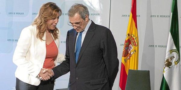 César Alierta y Susana Díaz.