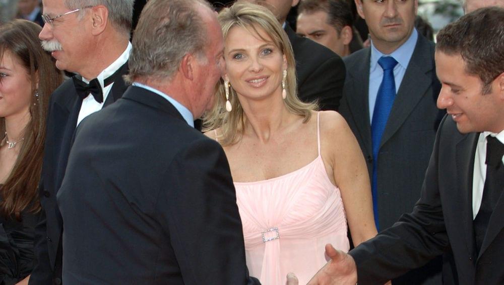 Corinna Larsen junto al rey emérito.