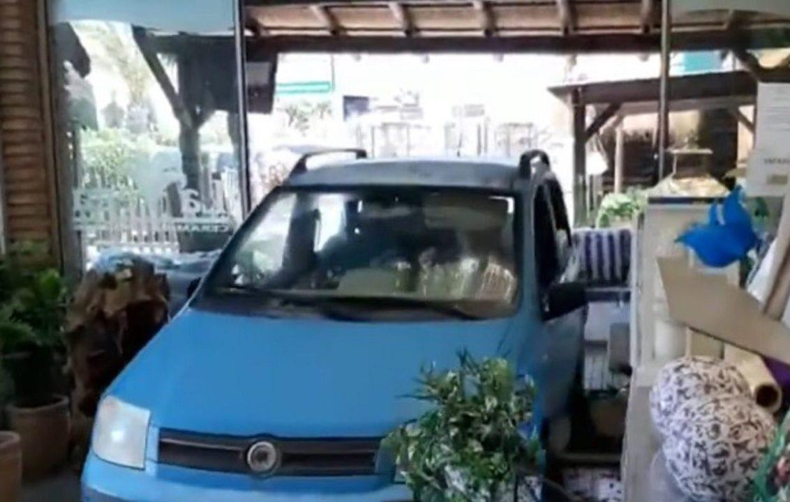 Mujer irrumpe con su coche en un vivero en Mijas (Málaga)