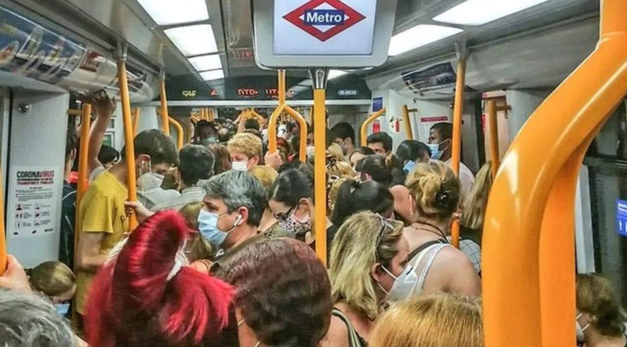 El metro de Madrid en plena pandemia