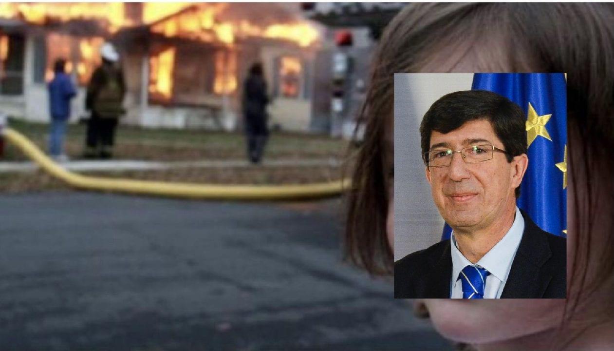 Meme sobre la postura de Juan Marín ante el avance de la segunda ola de la pandemia en Andalucía