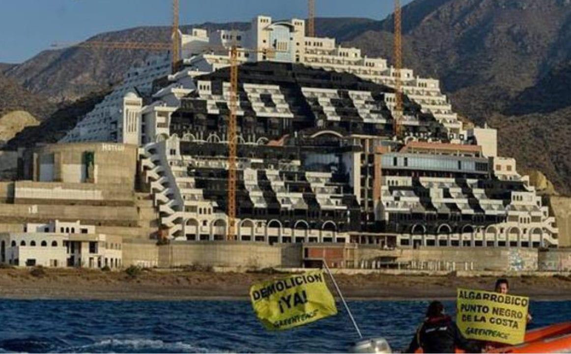 Hotel ilegal de algarrobico, Almería