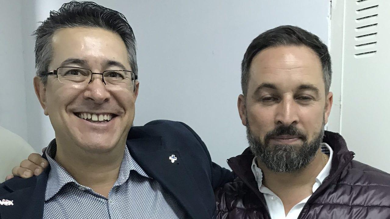 Félix Rodríguez y Santiago Abascal, peces gordos de VOX.