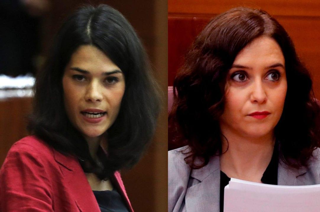 Isa Serra e Isabel Díaz Ayuso.