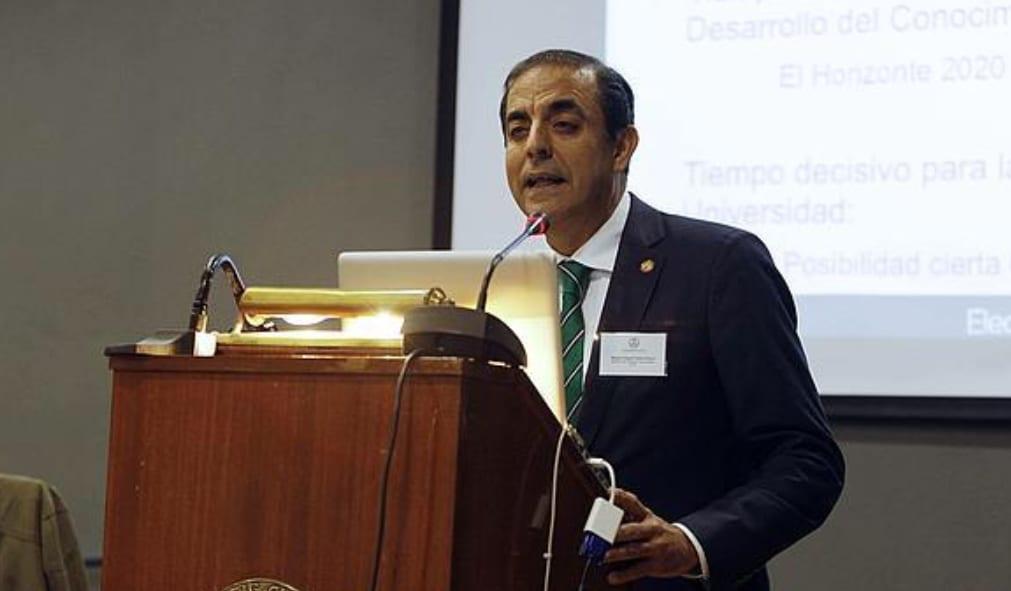 El rector de la Universidad de Sevilla (US), Miguel Ángel Castro
