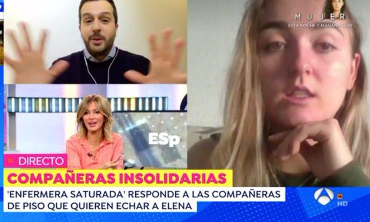 La joven Elena Cañizares siendo entrevistada por Antena 3