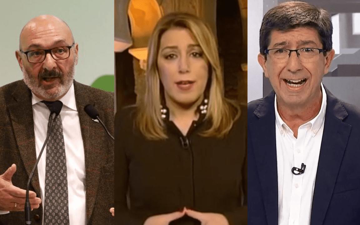 Peces gordos de las organizaciones autroproclamadas VOX, PSOE-A y Cs.
