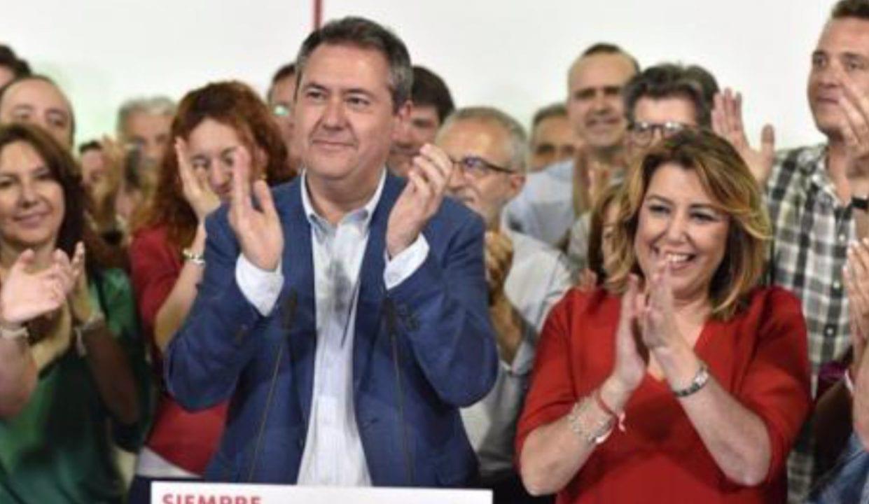 El alcalde de Sevilla Juan Espadas y la Secretaria General del PSOE de Andalucía Susana Díaz