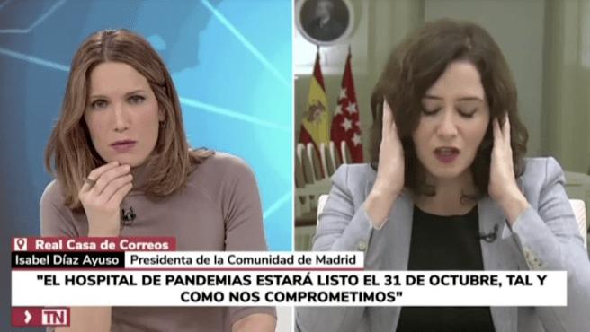 Isabel Díaz Ayuso en Telemadrid.