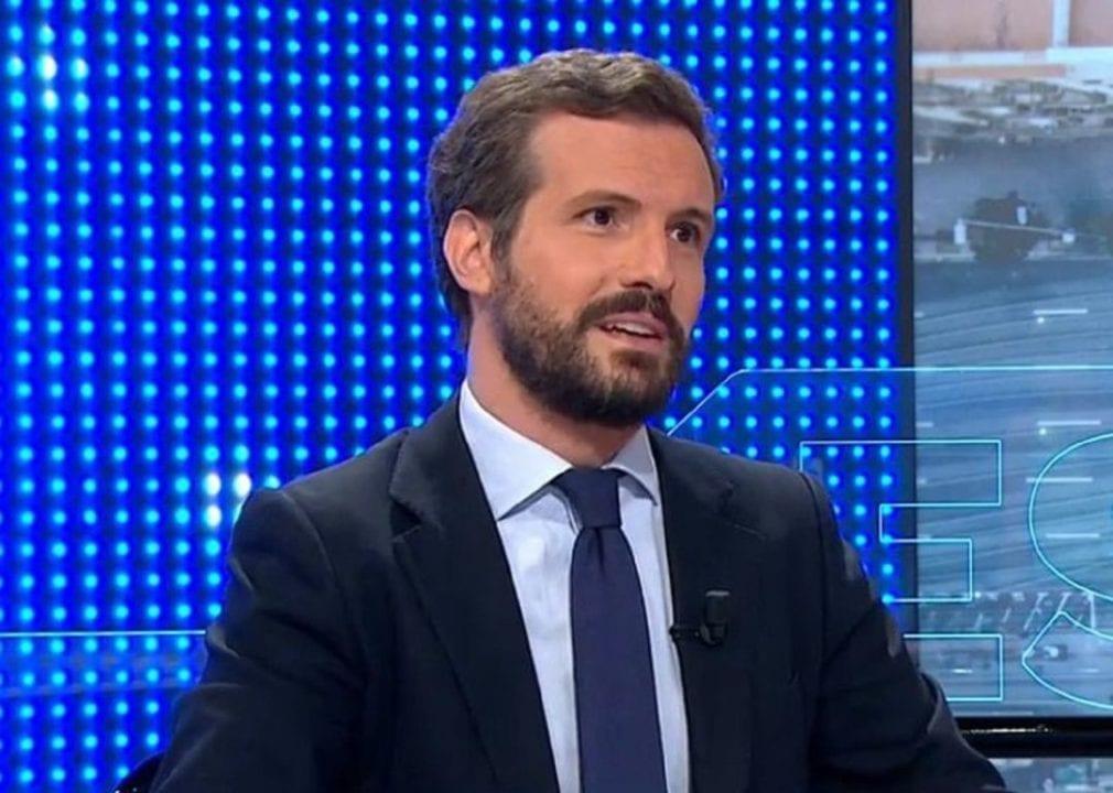 Pablo Casado en Antena 3. (Atresmedia)