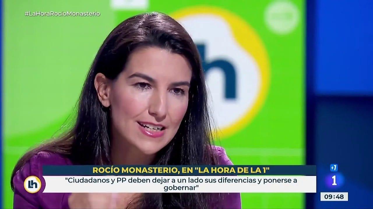 Rocío Monasterio, diputada de VOX.