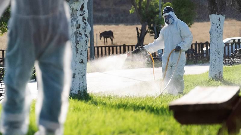 Fumigación contra el Virus del Nilo en Coria del Río.