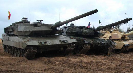 Tanque español en una competición de blindados en Letonia.