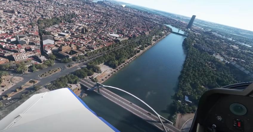 La ciudad de Sevilla en Microsoft Flight Simulator 2020