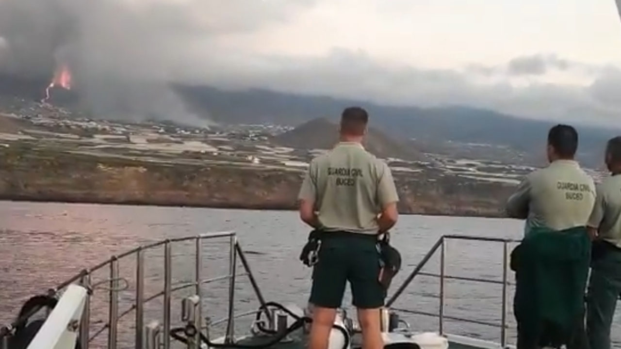 Guardia Civil en la costa de La Palma.