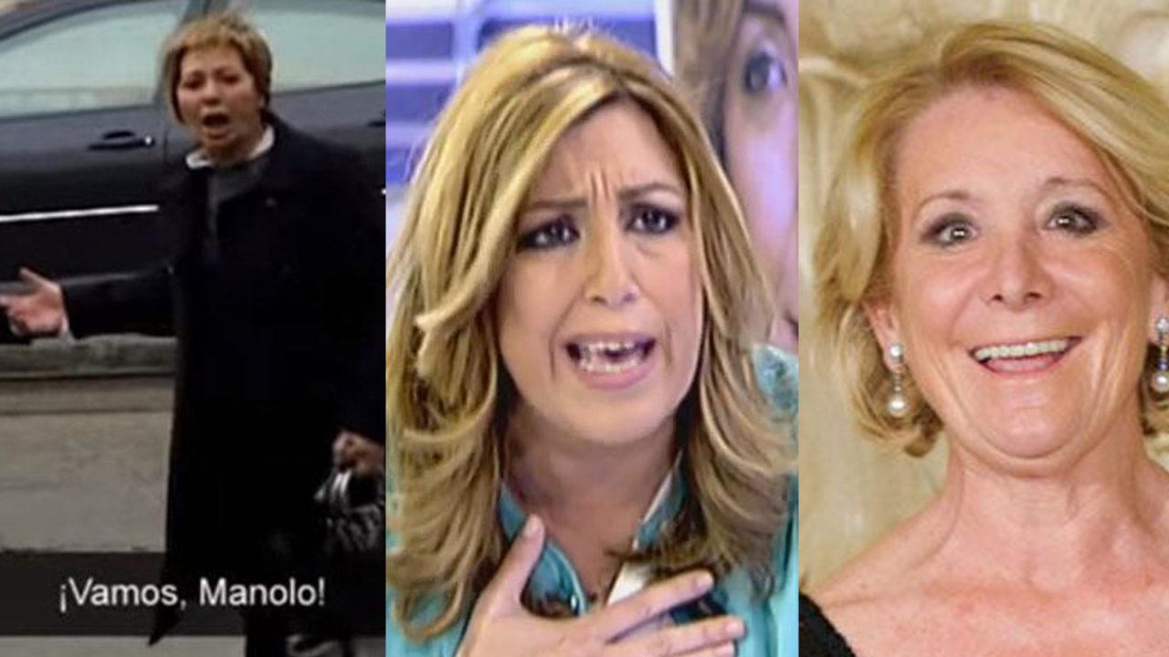 Celia Villalobos, Susana Díaz y Esperanza Aguirre.